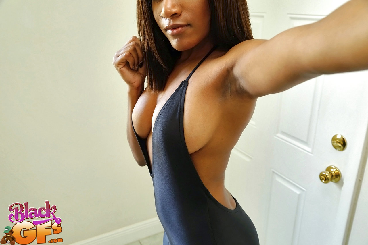 Black babe with hot tits and amazing body gets fucked on the couch 10